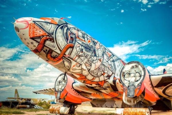 De vieux avions redécorés façon Street Art! C'est The Boneyard Project…
