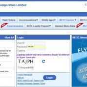irctc website réservation train inde